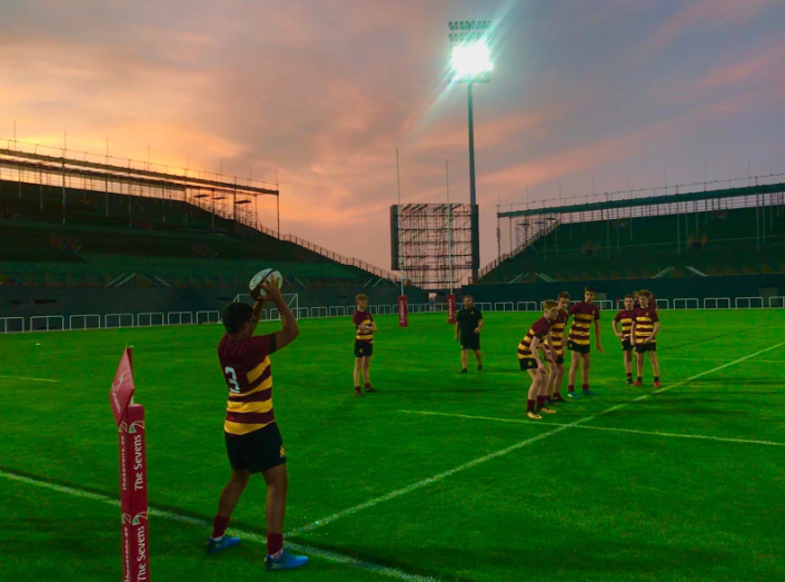 Cathedral School play on Dubai Sevens pitch CSL_Sport1
