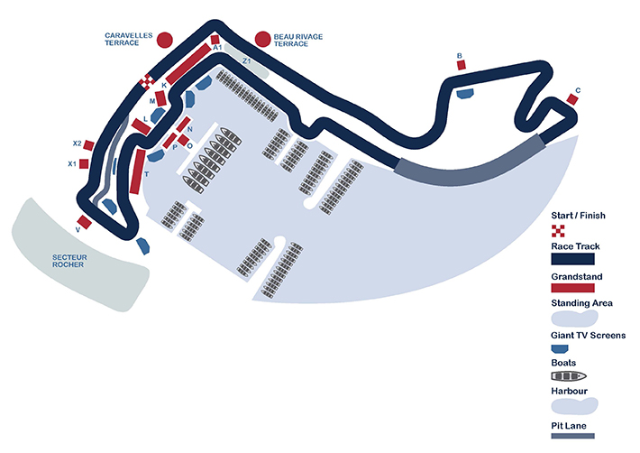 Monaco Formula 1 Grand Prix Monaco-Seating-Map